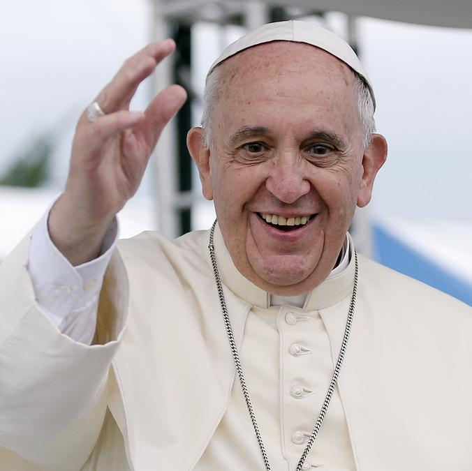 Message du pape François : Soyez heureux