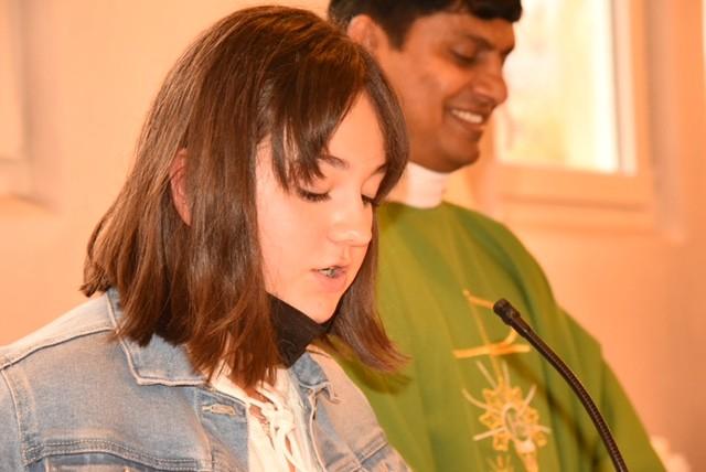 Première Communion d'Ashley SCHEEG à Ober le 3 octobre 2021